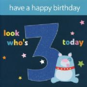 3 Today Birthday Card
